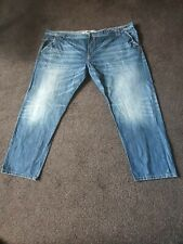 Sonneti Big And Tall Baggy Vintage Distressed Blue Jeans Size W56 X L34