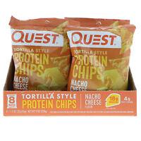 Quest Nutrition Protein Chips Nacho Cheese Flavor 8 Bags 1.1 oz (32 g ) Each