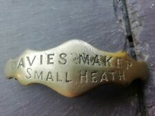 More details for victorian harness brass maker plate davies small heath birmingham circa 1880