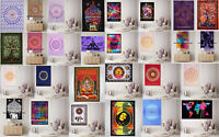 Indian Mandala tapestry hippie Hippy Cotton wall hanging Bohemian dorm decor 3D