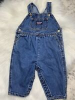 Oshkosh Bgosh Girls Vintage Denim Jean Overalls Vestbak Size 6-9 Months