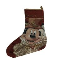 Disney Parks Christmas Stocking Mickie Mouse Embroidery Walt Disney Authentic