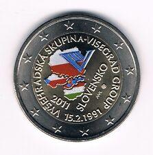 2 Euromünze 2011 Slowakei Visegrad mit Farbe   unz.