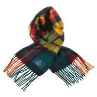Scottish 100 % Lambswool Tartan Clan Scarf Buchanan Modern Brand New