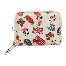 BRAND NEW CATH KIDSTON LONDON STAMPS PRINT ZIPPED TRAVEL PURSE WALLET