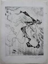 André MASSON Estampe Pointe sèche originale signée et numérotée 16/130