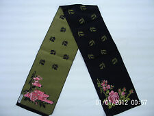 Authentic LIBERTY LONDON 100% Silk Long Scarf Oblong, Made in France