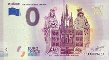 BILLET 0 ZERO EURO  SOUVENIR  KOSICE DOM SVATEJ ALZBETY 1508  2019-2