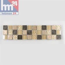 mosaïque CORDOBA VERRE PIERRE NATURELLE ornamentstein bordure 29,5 x 7,5 x 0,8