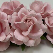 "2"" Soft Pink ROSES DIY Paper Flower Wedding bouquet Favor Gift Scrapbook R77L-2"