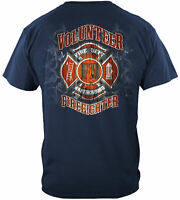 Fire Department Firefighter Fire Fighter Faded Planks T-Shirt 100% Cotton NAVY
