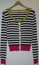 Review Multi Coloured Striped Viscose/Rayon Cardigan - Size 12