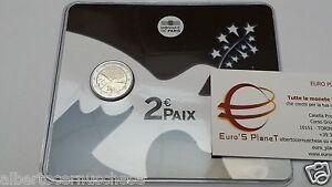 card 2 euro 2015 fdc FRANCIA france frankreich 70 anni pace paix peace 和平 мир