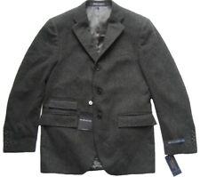 Tweed Sakko Jacket Polo by Ralph Lauren Solid Kaschmir schwarz grau Herren
