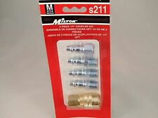 S211 MILTON 5 PC M STYLE KIT COUPLER & PLUG 1/4 NPT MADE IN THE USA