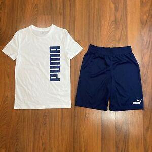 Puma Multicolor 2pc Set T-shirt Shorts Youth Boy's Size 3/4, 5/6, 7/8, 10/12 NEW