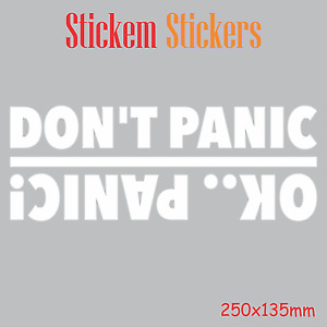 Dont Panic Okay Panic Sticker Decals
