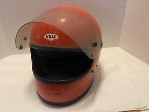 Vintage Bell Star II Snell 1975 Orange Helmet 7 3/8 Used