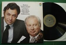 Brahms Violin Concerto Isaac Stern New York P/O Mehta CBS Masterworks 76836 LP
