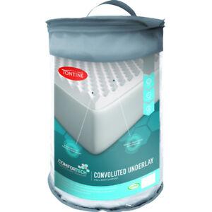 Tontine Comfortech Foam Eggshell Underlay Topper | Body Support 2 Year Guarantee