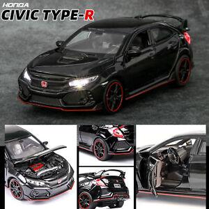 1:32 Honda 10th Civic Typer R Metal Diecast Model Car Toy Collection Sound&Light