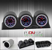 """2"""" JDM RACING GUAGES - TURBO BOOST + VOLTAGE + WATER TEMPERATURE + 52MM TRI PODS"""