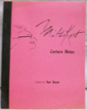 Milton Kort Lecture Notes by Kort Milton
