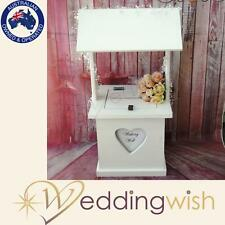 Wooden Wishing Well with Personalised Heart, Wedding Card Box