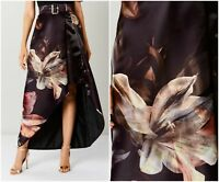 ex Coast Belted Organza High Low Floral Party Evening Prom Formal Occasion Skirt