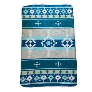 Native American Fleece 58x38 Throw Blanket St. Labre Indian School Aztec Navajo
