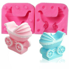 Baby Pram Carriage Chocolate Soap Mold Cake Decor Baking Tool Cupcake Topper DIY