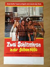 Filmposter * Kinoplakat * A3 * Zwei Schlitzohren in der gelben Hölle * EA 1974