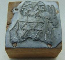 Vintage Printing Letterpress Printers Block Stick Figure Girls & Donkey