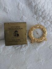 Vintage Seth Thomas Wind Up Travel Alarm Clock Made in Germany Original Box