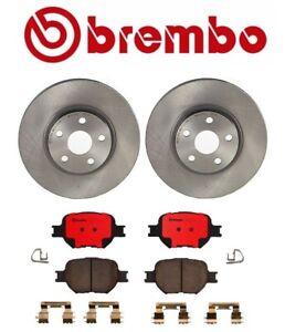 Brembo Front Brake Disc Rotors and Ceramic Pads Kit for Scion tC Toyota Celica