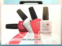 CND SHELLAC CHIC TRIAL PACK 15-pc UV LED Soak Off Gel Polish Intro Gift Set NIB