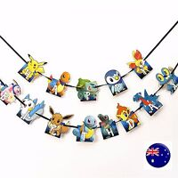 Girl Kid Boy Pokemon Go Happy Birthday Party Banners Flags Decorations Garlands