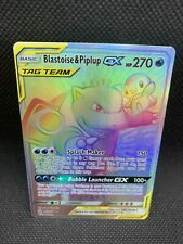 Pokemon Blastoise & Piplup gx 253/236 Secret Rare Cosmic Eclipse Mint Next Day