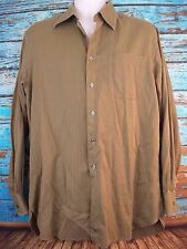 Nordstrom Men's Long Sleeve Button Front Dress Shirt Size 16-35 Italy Olive
