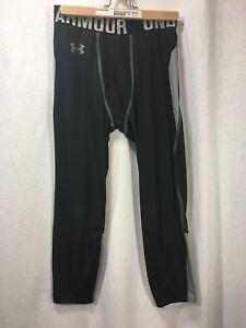 Kids Under Armour Hockey Base Layer Y XL Legging Pants Gray Black
