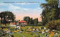 Bloomington Illinois 1940s Postcard Bloomington-Normal Sewage Disposal Plant