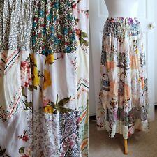 Vintage Maxi Skirt Patchwork Flared Boho Folk Festival Mori Girl Long 6 8