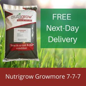 Nutrigrow Growmore Tree, Plant & Vegetable Fertiliser 7-7-7 25KG Covers 250m²