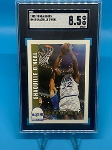 1992-93 NBA Hoops SHAQUILLE O'NEAL #442 RC SGC