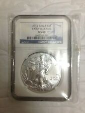 American Eagle ASE 2012 1 oz .999 Silver Coin - MS69 NGC