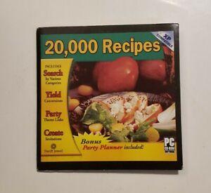20,000 Recipes (Vintage PC CD-ROM, 2002)