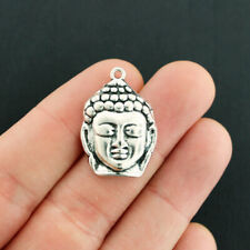 4 Buddha Charms Antique Silver Tone Large Size - SC4727