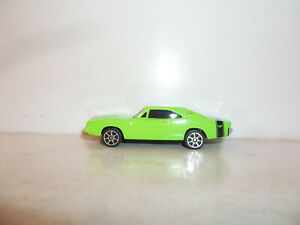 LOOSE 2020 MAISTO 1:64 FRESH METAL GREEN with BLACK STRIPE 69 DODGE CHARGER R/T