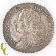 1758 Great Britain 6 Pence (Extra Fine+, XF+) George II England Silver KM#582.2