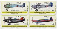 Chile 1990 #1416-19 Fuerza Aerea VI Feria Internacional del Aire FIDAE MNH
